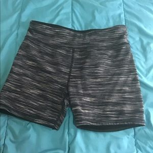 Pants - Gray, black, and white athletic shorts